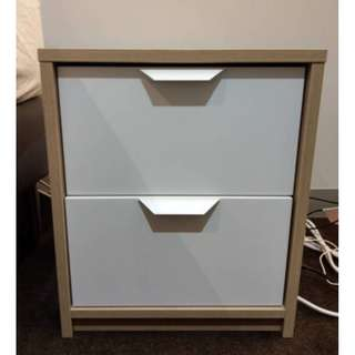 Ikea Bedside Table 2 drawers (ASKVOLL) Very Good Condition