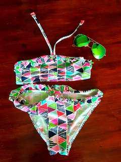 Preloved debenhams aztec swimsuit *bought in Dubai*