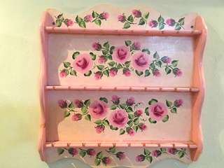 Display shelf in oil painted Rose