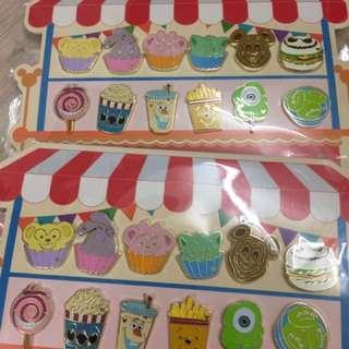 (降價)迪士尼徽章 食物車 food truck pin trading carnival 2018 最後一套