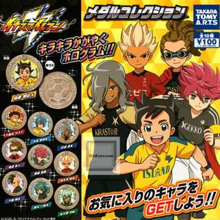 {JUN Gacha PO}  Inazuma Eleven Medal Collection イナズマイレブン メダルコレクション 10pcs set