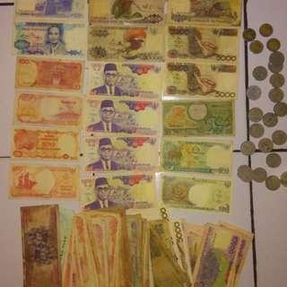 Uang lama semua pecahan