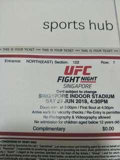 Selling 1 Extra CAT 2 -UFC Fight Night Singapore COWBOY VS EDWARDS (Section 122)