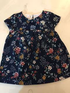 Zara navy blue dress