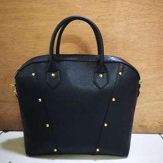 Studded 3-Way Hand/Shoulder/Sling Bag