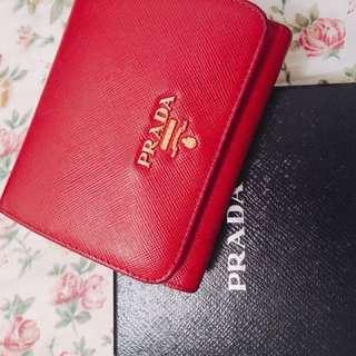 Prada flip wallet