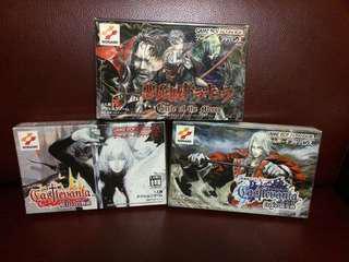 極罕有!GBA日本原裝正版惡魔城系列卡帶