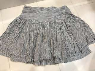 Striped Ruffle Mini Skirt