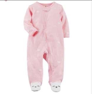 *NB* Brand New Carter's Bunny Sleep And Play For Baby Girl