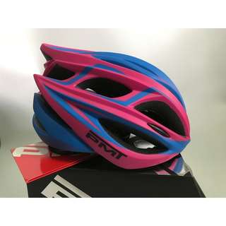 PMT Bicycle/Cycling Helmet with Ultralight Breathable Design Mountain/Road Bike Helmet (Pink+Blue)