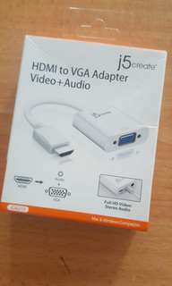 J5 VGA to HDMI Adapter