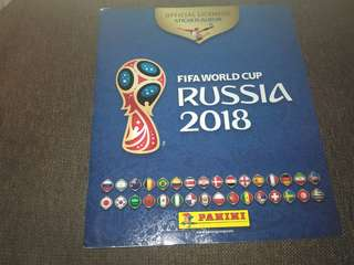 Sticker Album world cup Russia 2018 (beli di UK)