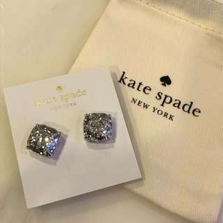 Kate Spade New York亮亮小號方形耳環