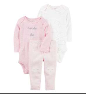 *6M* BN Carter's 3-Piece Little Character Set For Baby Girl