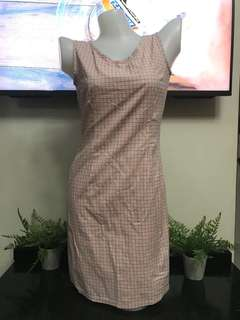 Checkered Orange Dress