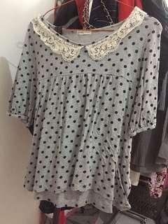blouse polkadot
