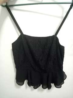 Black Lacey Top with adjustable strap