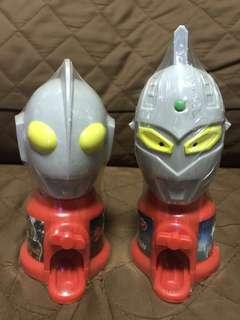 全新 日版 円谷 Tsuburaya 鹹蛋超人 咸旦超人 吉田   七星俠 頭像 Ultraman 懷舊復刻 豆豆機 扭糖機 朱古力 扭蛋機 玩具 Figure 景品