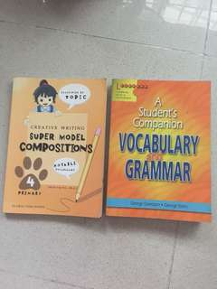 Composition, vocabulary and grammar guide books