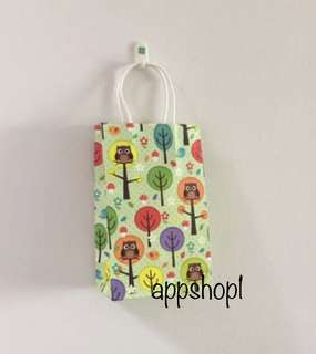 Owl Kraft bag, paper bag, goodies bag, door gift carrier