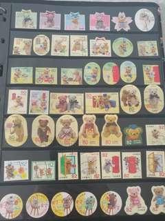 熊公仔系列郵票(已蓋銷郵票)
