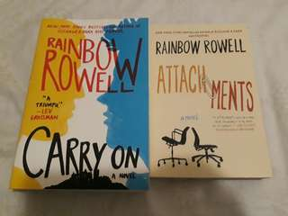 Super brand new Rainbow Rowell books! 700 for both (final price)