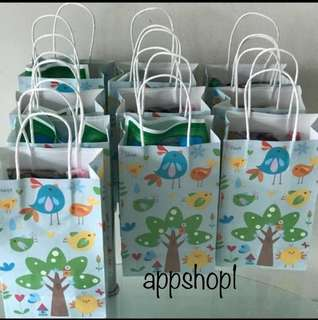 Bird Kraft bag, paper bag, goody bag packages, door gifts carrier