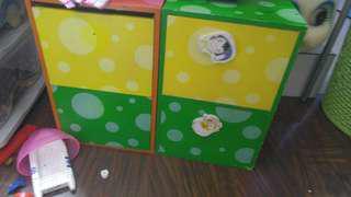 圖書收納櫃 箱 盒 共5個4個抽屜