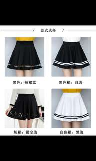 Preorder highwaist skater skirt * waiting time 15 days after payment is made * chat to buy to order