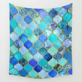 SOCIETY6 MOROCCAN TILE TAPESTRY