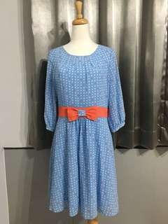 🚚 全新✨水藍方塊造型洋裝👗