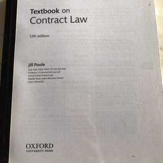 Textbook on Contract Law by Jill Poole