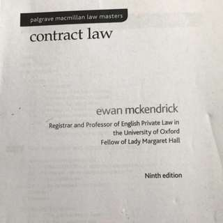 Contract Law Casebook by Ewan Mckendrick