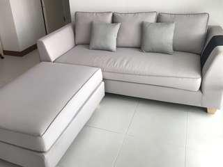 Light grey sofa with removable covers (Moving Out Sale)