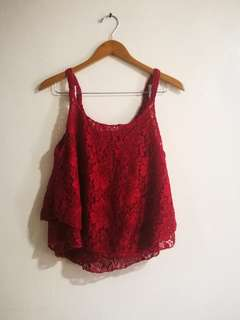 Red Top Sleeveless - Good as new