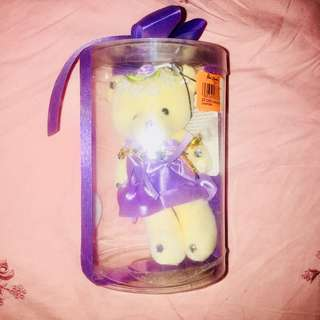 BRANDNEW Blue Magic Lavender Bear Keychain