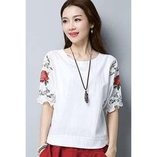 Short Sleeve Shirt White Size XXL
