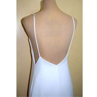Backless Long White Dress