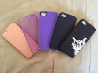 Pre-loved and some brand new iphone 5/5s/SE cases