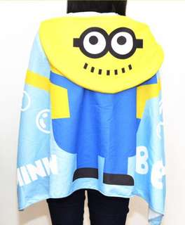 全新Minions 沙灘斗篷毛巾