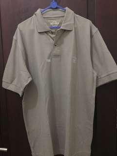 Polo shirt kaos hard rock coklat muda pattaya new L