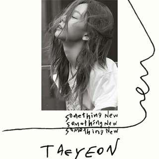 [ PREORDER ] TAEYEON SOMETHING NEW 3RD MINI ALBUM