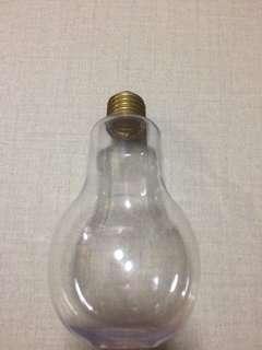 Light bulb shape bottle