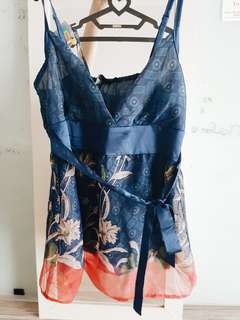 Chinese Art V neck Top