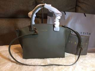 Authentic Charles & Keith two way Bag with dustbag and paperbag