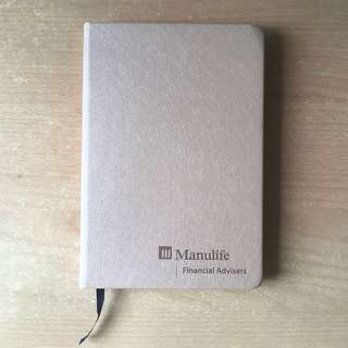 🚚 Manulife Financial Advisors Faux Leather Skin NoteBook Diary / Cute Heart Notebook Post It