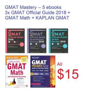 ebook: GMAT Mastery (5x ebooks) Official Guide 2018 +GMAT MATH + KAPLAN GMAT