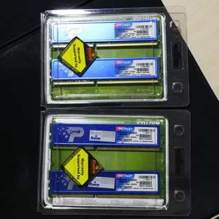 Patriot DDR3-10600 Ram 2 Pairs of 2GB