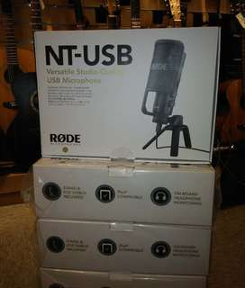 全新行貨 香港經銷商 fun music center rode nt-usb condenser microphone  usb mic usb microphone  usb 錄音咪 rode ntusb