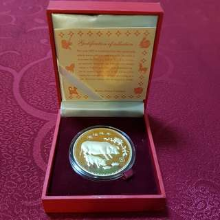 2007 Year Of Pig Gold Coin